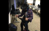 Manish on the virZoom - vr exercise vr bike high resolution