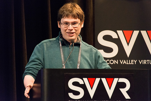 A picture of James at SVVR.