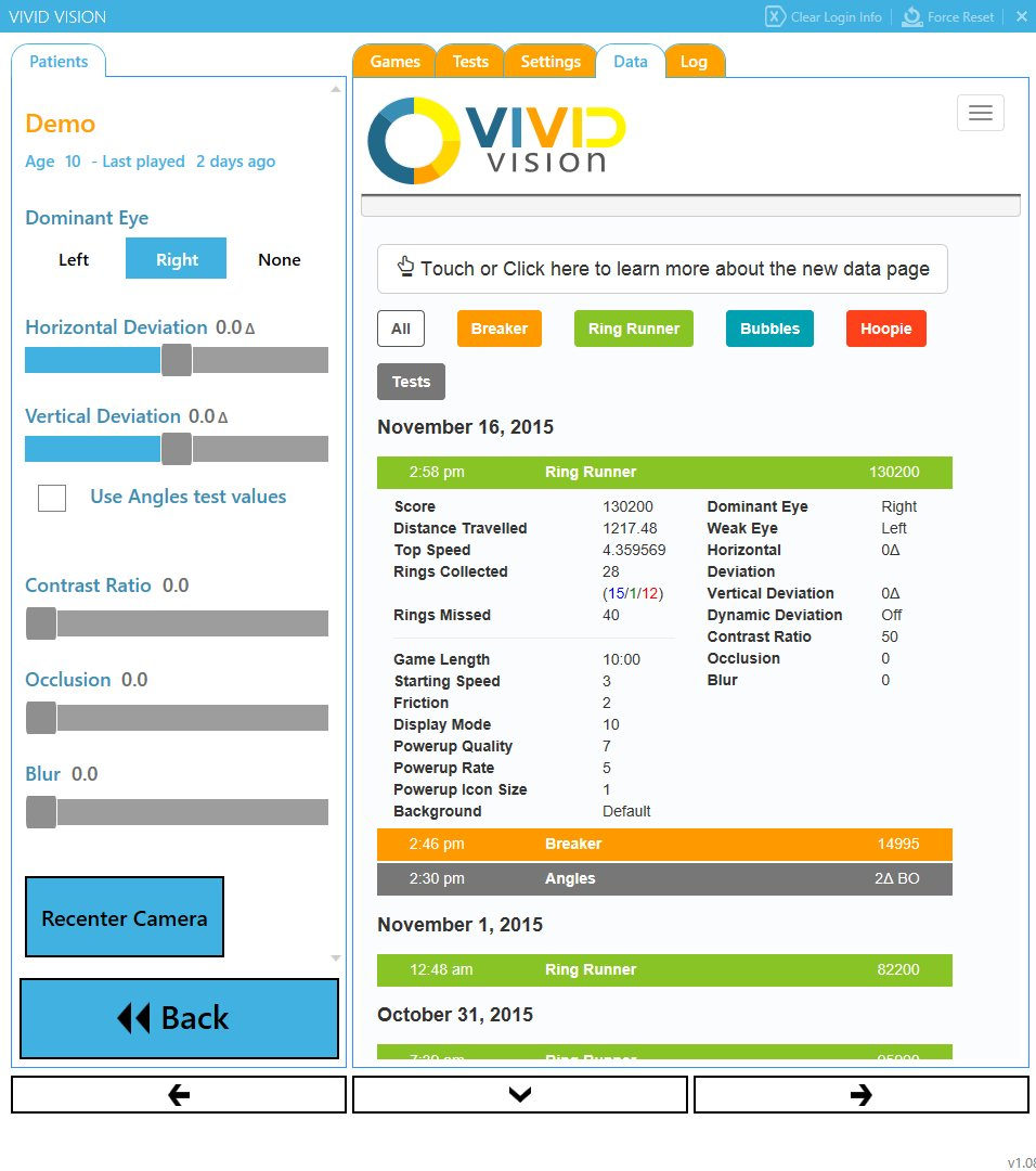 Image showing the new Vivid Vision data page.