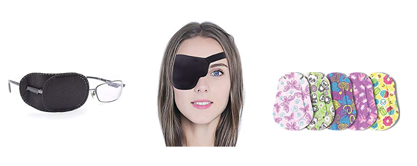 There are many different types of eye patch, from adhesive, to cloth, to silk.