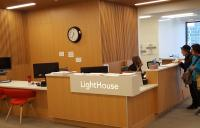 Reception desk at the Lighthouse for the Blind in San Francisco -  high resolution